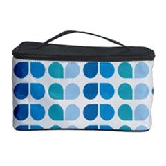 Blue Green Leaf Pattern Cosmetic Storage Cases