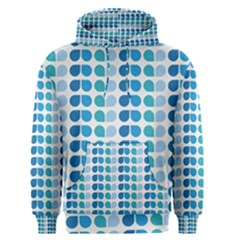 Blue Green Leaf Pattern Men s Pullover Hoodies