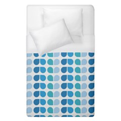 Blue Green Leaf Pattern Duvet Cover Single Side (single Size)