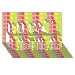 Colorful Leaf Pattern Happy Birthday 3d Greeting Card (8x4)