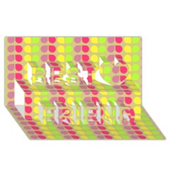 Colorful Leaf Pattern Best Friends 3D Greeting Card (8x4)