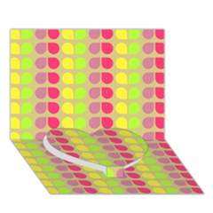 Colorful Leaf Pattern Heart Bottom 3D Greeting Card (7x5)