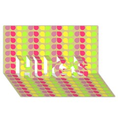 Colorful Leaf Pattern HUGS 3D Greeting Card (8x4)