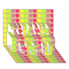 Colorful Leaf Pattern THANK YOU 3D Greeting Card (7x5)