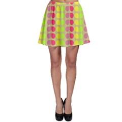 Colorful Leaf Pattern Skater Skirts