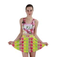 Colorful Leaf Pattern Mini Skirts
