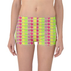 Colorful Leaf Pattern Boyleg Bikini Bottoms