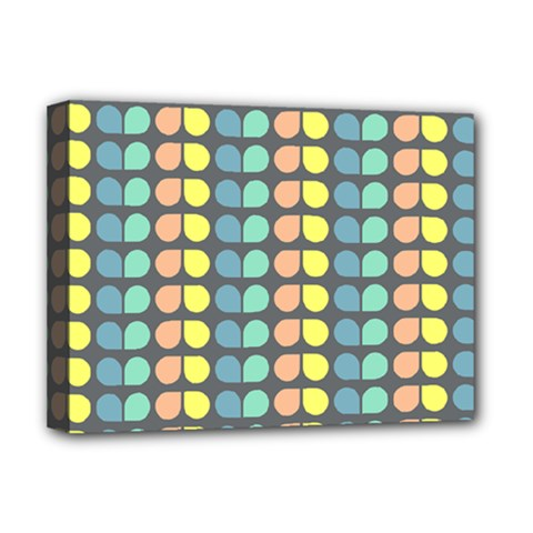 Colorful Leaf Pattern Deluxe Canvas 16  X 12
