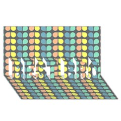 Colorful Leaf Pattern BEST BRO 3D Greeting Card (8x4)