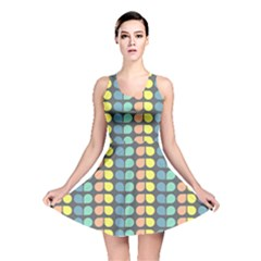 Colorful Leaf Pattern Reversible Skater Dresses