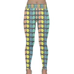 Colorful Leaf Pattern Yoga Leggings