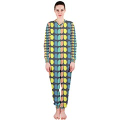 Colorful Leaf Pattern Onepiece Jumpsuit (ladies)