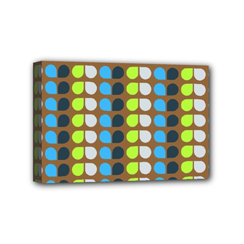Colorful Leaf Pattern Mini Canvas 6  X 4