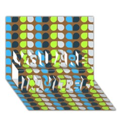 Colorful Leaf Pattern YOU ARE INVITED 3D Greeting Card (7x5)