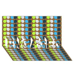 Colorful Leaf Pattern Engaged 3d Greeting Card (8x4)