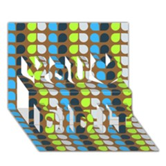 Colorful Leaf Pattern You Did It 3d Greeting Card (7x5)