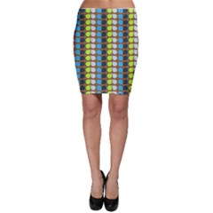 Colorful Leaf Pattern Bodycon Skirts