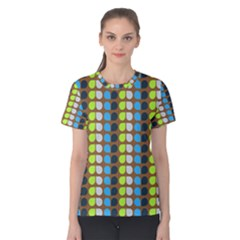 Colorful Leaf Pattern Women s Cotton Tees