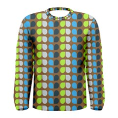 Colorful Leaf Pattern Men s Long Sleeve T-shirts