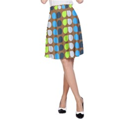 Colorful Leaf Pattern A-Line Skirts