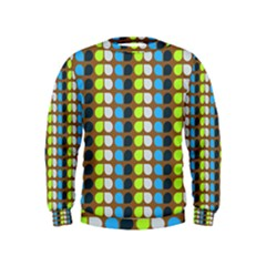 Colorful Leaf Pattern Boys  Sweatshirts