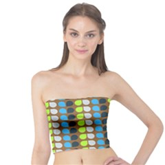 Colorful Leaf Pattern Women s Tube Tops
