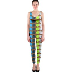 Colorful Leaf Pattern OnePiece Catsuits