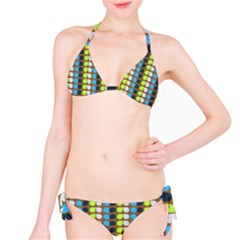 Colorful Leaf Pattern Bikini Set