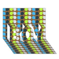 Colorful Leaf Pattern BOY 3D Greeting Card (7x5)