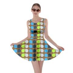 Colorful Leaf Pattern Skater Dresses