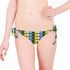 Colorful Leaf Pattern Bikini Bottoms