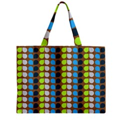 Colorful Leaf Pattern Zipper Tiny Tote Bags