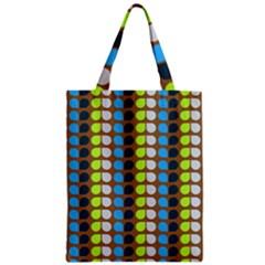 Colorful Leaf Pattern Zipper Classic Tote Bags