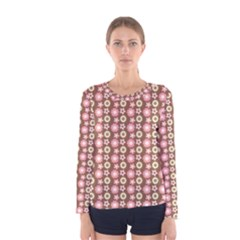 Cute Floral Pattern Women s Long Sleeve T Shirts