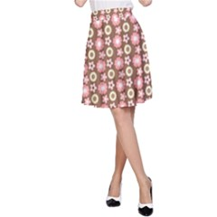 Cute Floral Pattern A Line Skirts