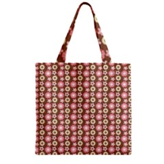 Cute Floral Pattern Zipper Grocery Tote Bags