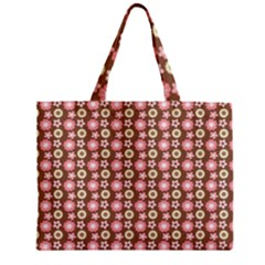 Cute Floral Pattern Zipper Tiny Tote Bags