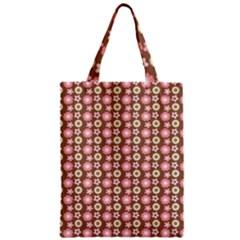 Cute Floral Pattern Zipper Classic Tote Bags