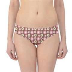 Cute Floral Pattern Hipster Bikini Bottoms