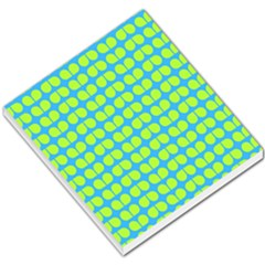 Blue Lime Leaf Pattern Small Memo Pads