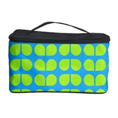 Blue Lime Leaf Pattern Cosmetic Storage Cases