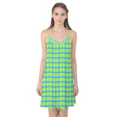 Blue Lime Leaf Pattern Camis Nightgown