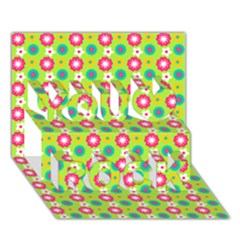 Cute Floral Pattern You Rock 3d Greeting Card (7x5)