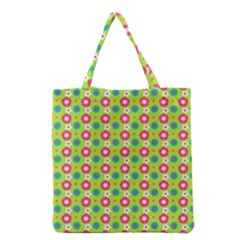 Cute Floral Pattern Grocery Tote Bags
