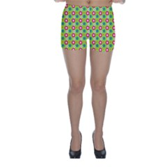 Cute Floral Pattern Skinny Shorts