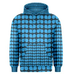 Blue Gray Leaf Pattern Men s Pullover Hoodies