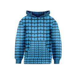 Blue Gray Leaf Pattern Kid s Pullover Hoodies