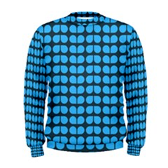 Blue Gray Leaf Pattern Men s Sweatshirts