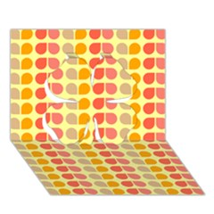 Colorful Leaf Pattern Clover 3D Greeting Card (7x5)
