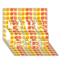 Colorful Leaf Pattern TAKE CARE 3D Greeting Card (7x5)